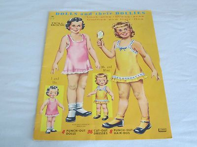 Dolls Their Dollies Paper Doll Book - Lowe