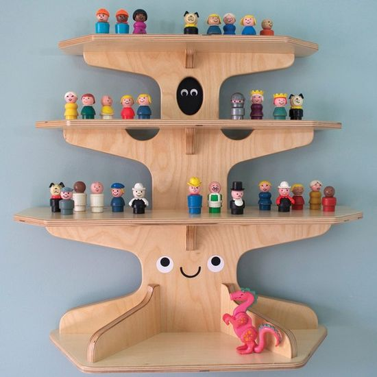 Woodland Happy Tree Display Shelf Baltic Birch Edition #wood #decor