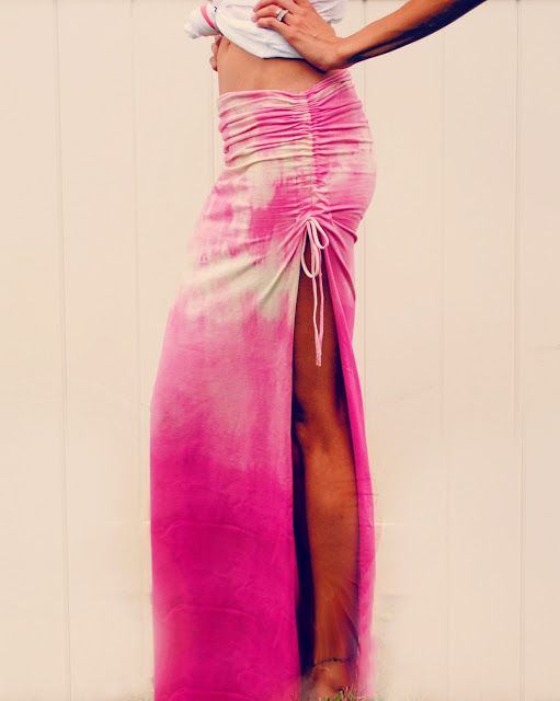 DIY maxi skirt. cute for summer