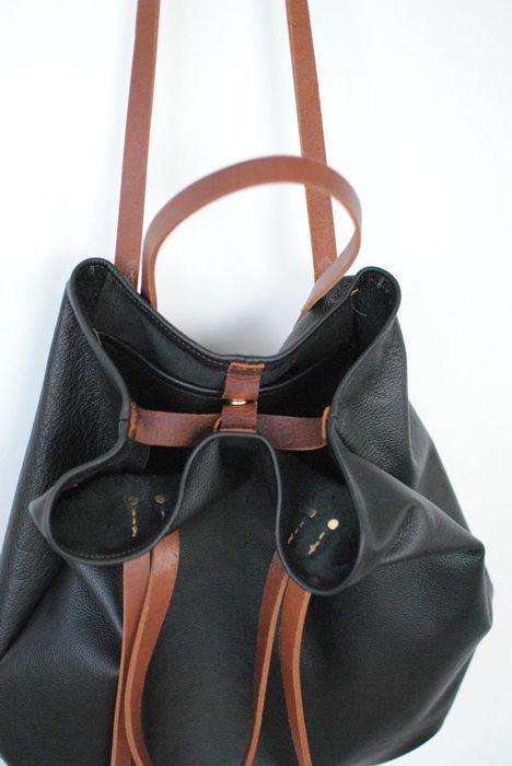 folded leather handbag ?
