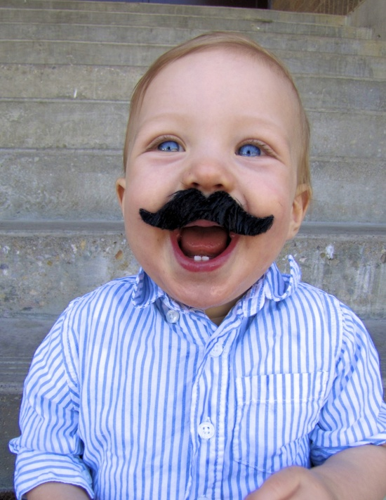 I mustache you a question..  Will you come to my birthday? - 1st birthday pictures