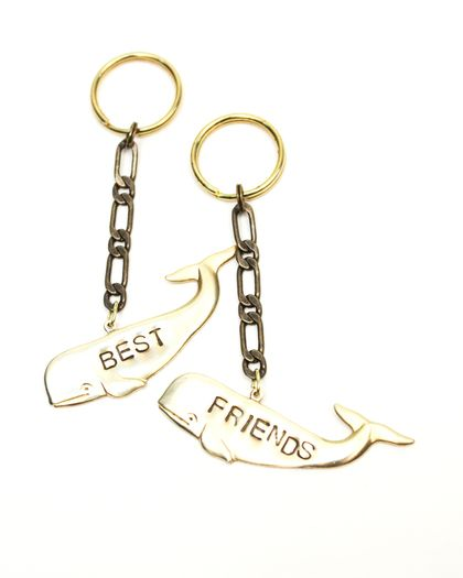 Best Friends Whales Key Chains Forever