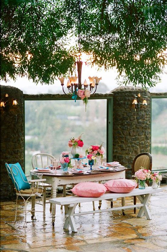 Ooooh so sweet!  #Picnic #Style #Romantic #Love #Patio