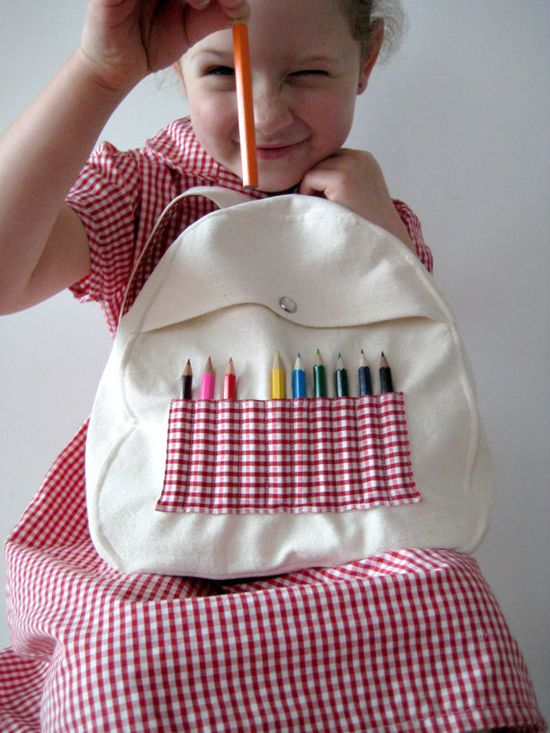 Red Gingham Baby & Toddler Backpack