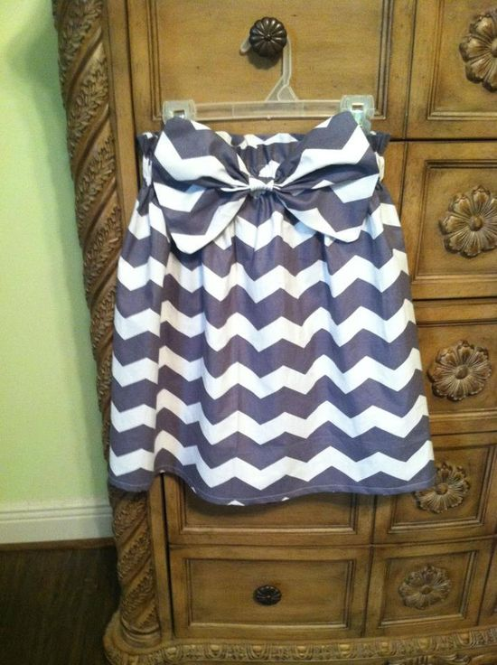 Chevron bow skirt