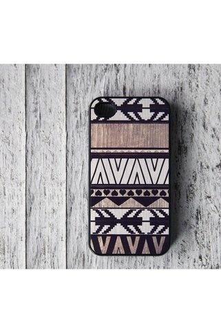 Geometric Art On Wood Print iPhone 4 Case - LOVE this.