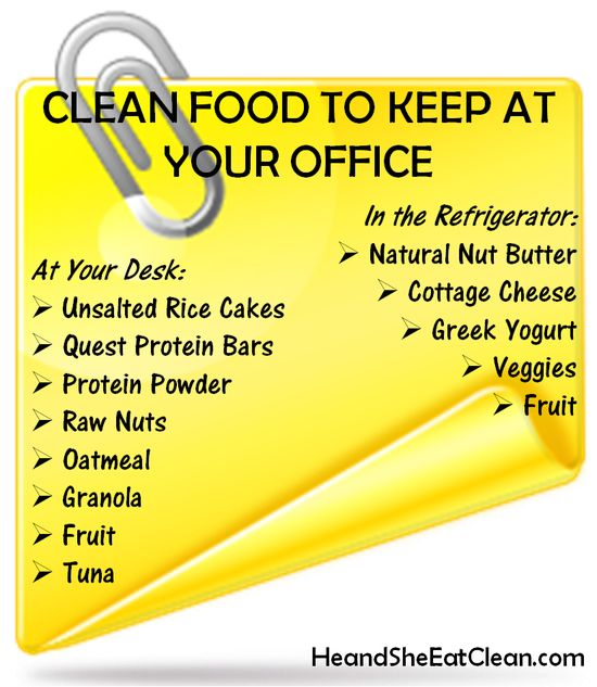 Clean Food to Keep at Your Office