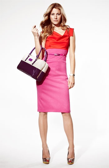 Black Halo Colorblock Belted Sheath Dress- Nordstrom...too expensive for my blood!