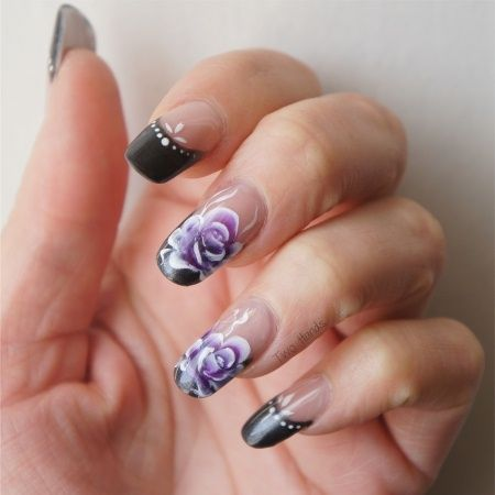 One Stroke Roses - Nail Art Gallery by NAILS Magazine