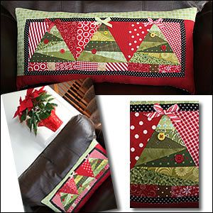 """Paper Piecing"" Project: Christmas Tree Pillow"