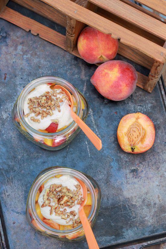 (raw, vegan) Peaches and Cream (using raw cashews)