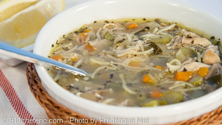 Chicken Noodle Soup --- This chicken noodle soup is the perfect winter soup. I personally always have some in the freezer because I love it. This is a comfort food suitable for any time of the year, but especially during cold winter months and when you are ill.
