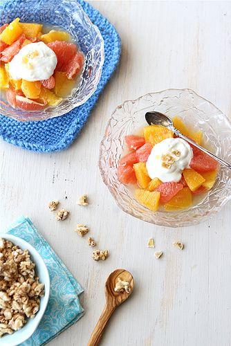 Pink Grapefruit & Orange Compote with Ginger Yogurt Recipe @Cookin' Canuck Dara Michalski