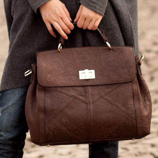 Beautiful Pattern Leather Handbag.