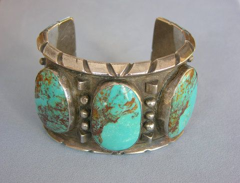 Substantial Vintage Navajo Turquoise Sterling by WhoaNellieTraders, $779.00
