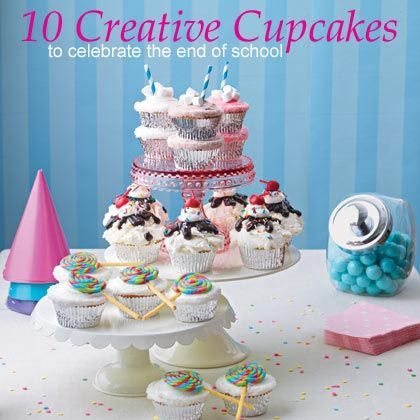 10 Creative Cupcakes to Celebrate the End of School