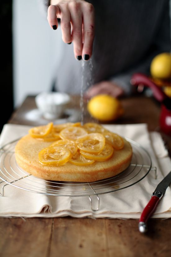 candied lemon cake.