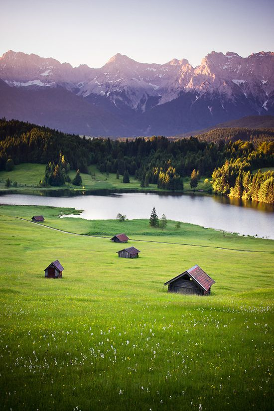 Sunrise on Karwendel Mountains, Bavaria, Germany