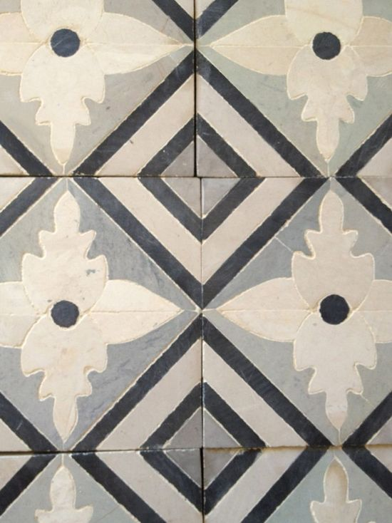 Blue & White - Mediterranean Tile Handmade tiles can be colour coordinated and customized re. shape, texture, pattern, etc. by ceramic design studios