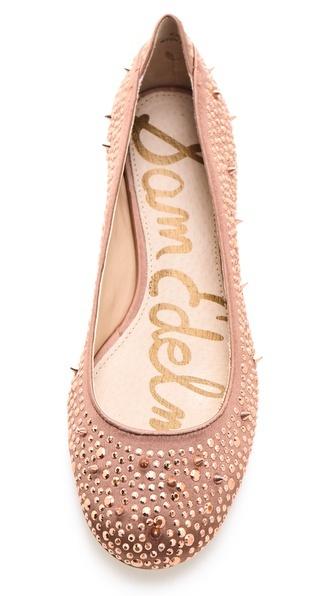 Sam Edelman Jolie Studded Flats - rose gold