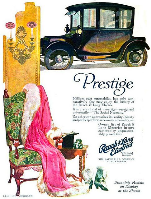 Love the bright, stylish colours in this Edwardian car ad. #vintage #Edwardian #car #ad #1910s