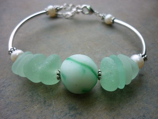 Sea Glass Bracelet Jewelry