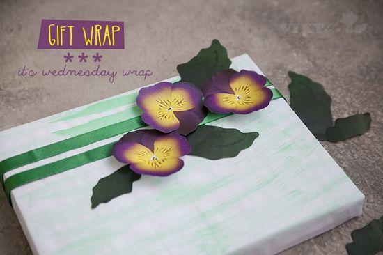 Vixyblu - handmade creative boutique: DIY: Gift Wrap -
