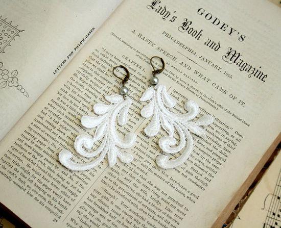 lace earrings MARYANN #lace #jewelry #fashion