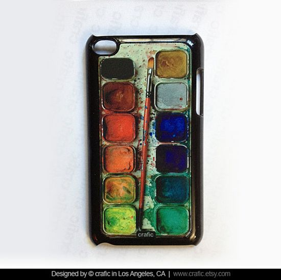 iPod Touch 4th Gen Case Watercolor Set via Etsy