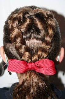 Valentine's Day Hairstyles – Flip Braided Heart