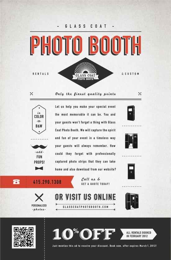 Glass Coat Photo Booth Print Ad by Hannah Lee, via Behance