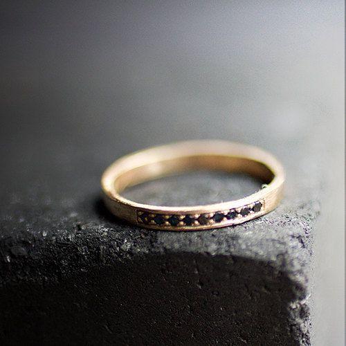 Pretty simple black diamond ring