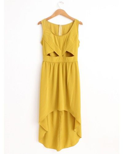 Great summer dress-- love the cut out