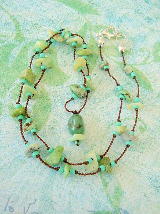 Boho Southwest Necklace Bohemian Jewelry Turquoise by BohoStyleMe