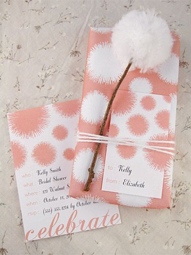 These would be cute invites for a shower