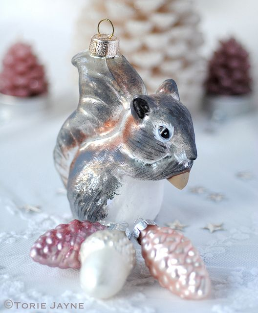 Squirrel Christmas Decoration by Torie Jayne