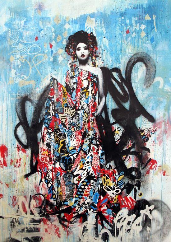 #graffiti #color #woman #art #street #streetart