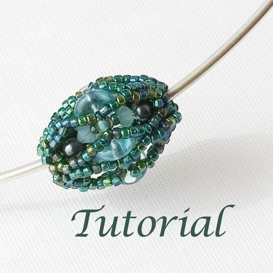 Beaded Bead Tutorial  Lagoon (Advanced) by Jewelry Tales  I have made this beaded bead and I love it!