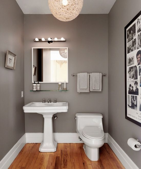gray walls / bathroom Simple..
