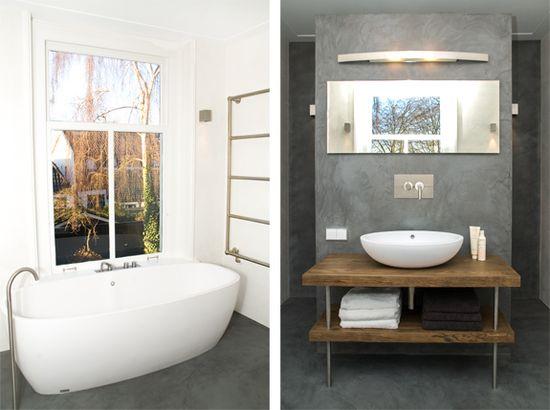 Concrete in the bathroom, design by Studio Nest, Amsterdam. www.studionest.nl