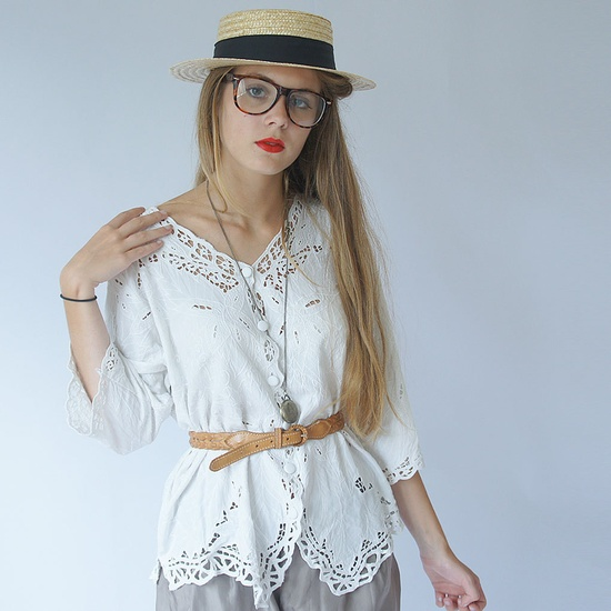 70s style,romantic,vintage,white lace by French designer LOUISA ... such a fresh approach to vintage styles.  Louisa takes the best designs from yesteryear and gives them new life in a new century.