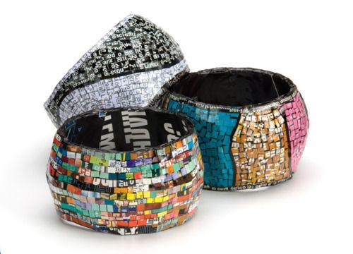 DIY Magazine Bracelets #Tutorial #jewelry