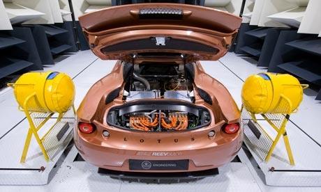 Lotus Evora 414E an electric sports car