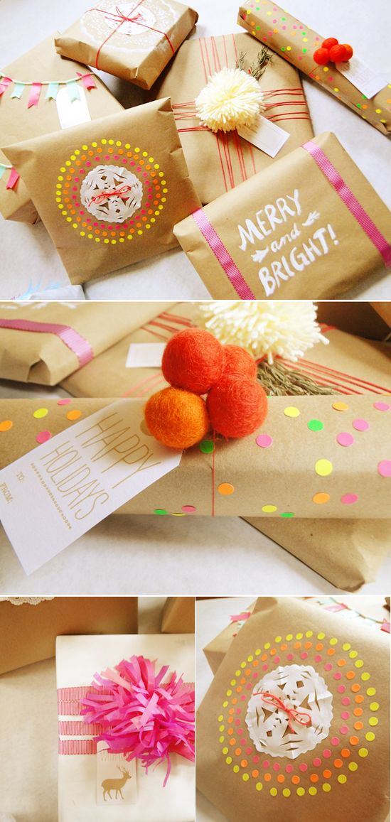A Lovely Lark: Raid-Your-Craft-Stash Gift Wrap