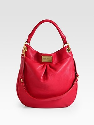 Marc by Marc Jacobs - Classic Q Hillier Hobo in wild raspberry. Want!!