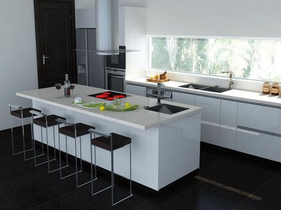 New White And Black Kitchens Design Ideas