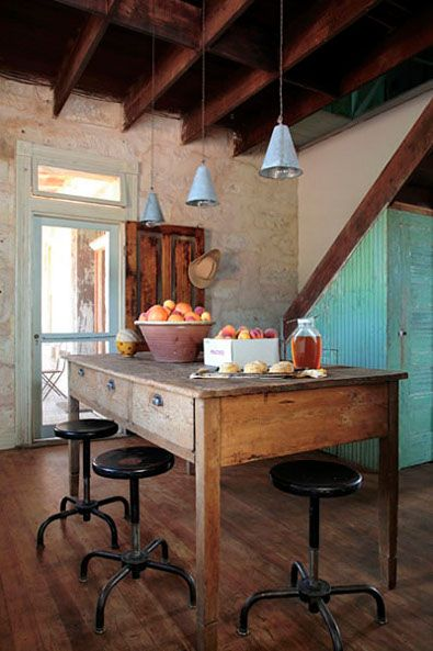 Rustic I want this with a butcher block on top for my island.