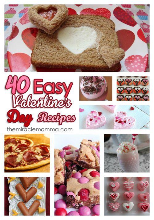 40 Kid Friendly Valentine's Day Recipes....