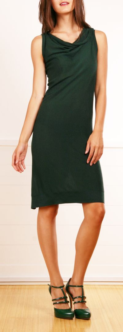 Dark emerald green Fendi dress