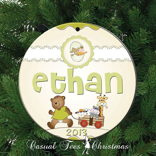 Baby Animals Personalized Christmas Ornament for by CasualTeeCo, $10.00